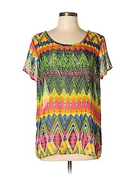 Seventh Avenue Short Sleeve Blouse Size L