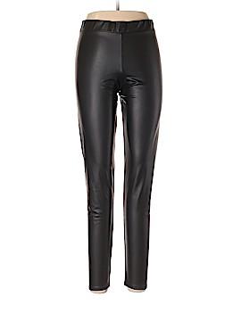 Black Heart Faux Leather Pants Size L