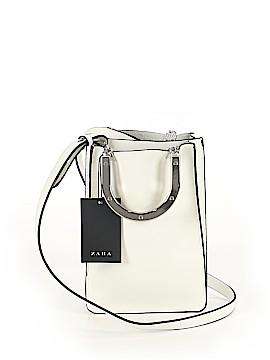 Zara TRF Leather Satchel One Size