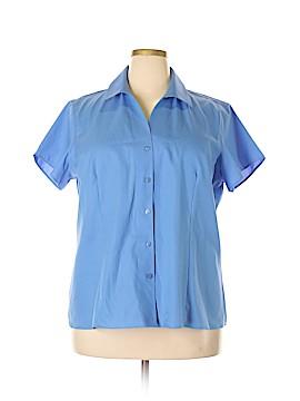 Jones New York Short Sleeve Button-Down Shirt Size 18 (Plus)