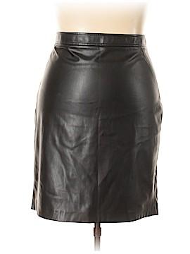 Roz & Ali Leather Skirt Size 18 (Plus)