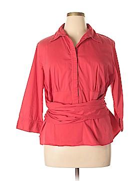 Unique Spectrum 3/4 Sleeve Button-Down Shirt Size 18 - 20 (Plus)