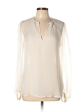 Haute Hippie Long Sleeve Silk Top Size M