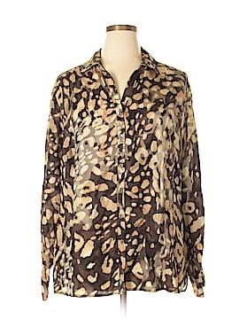 Jones New York Collection Long Sleeve Button-Down Shirt Size 22 (Plus)