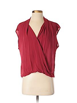 Velvet Short Sleeve Blouse Size XS