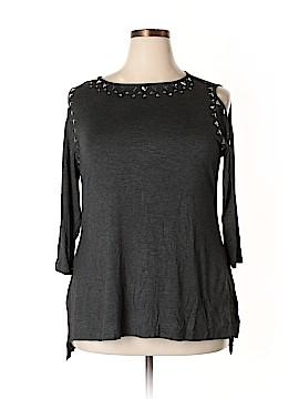 Belldini 3/4 Sleeve Top Size 1X (Plus)