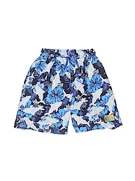 Plaid Fish Board Shorts Size 4