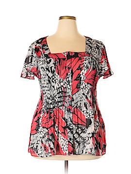 Serenade Short Sleeve Blouse Size 3X (Plus)