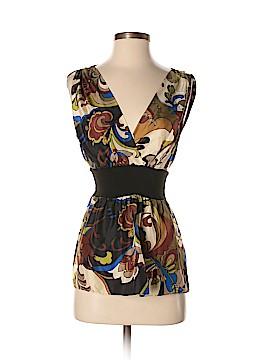 Hype Sleeveless Silk Top Size XS