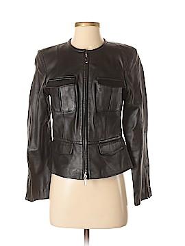 INC International Concepts Leather Jacket Size S (Petite)
