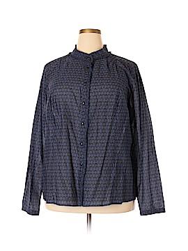 Motto Long Sleeve Button-Down Shirt Size 26 (Plus)