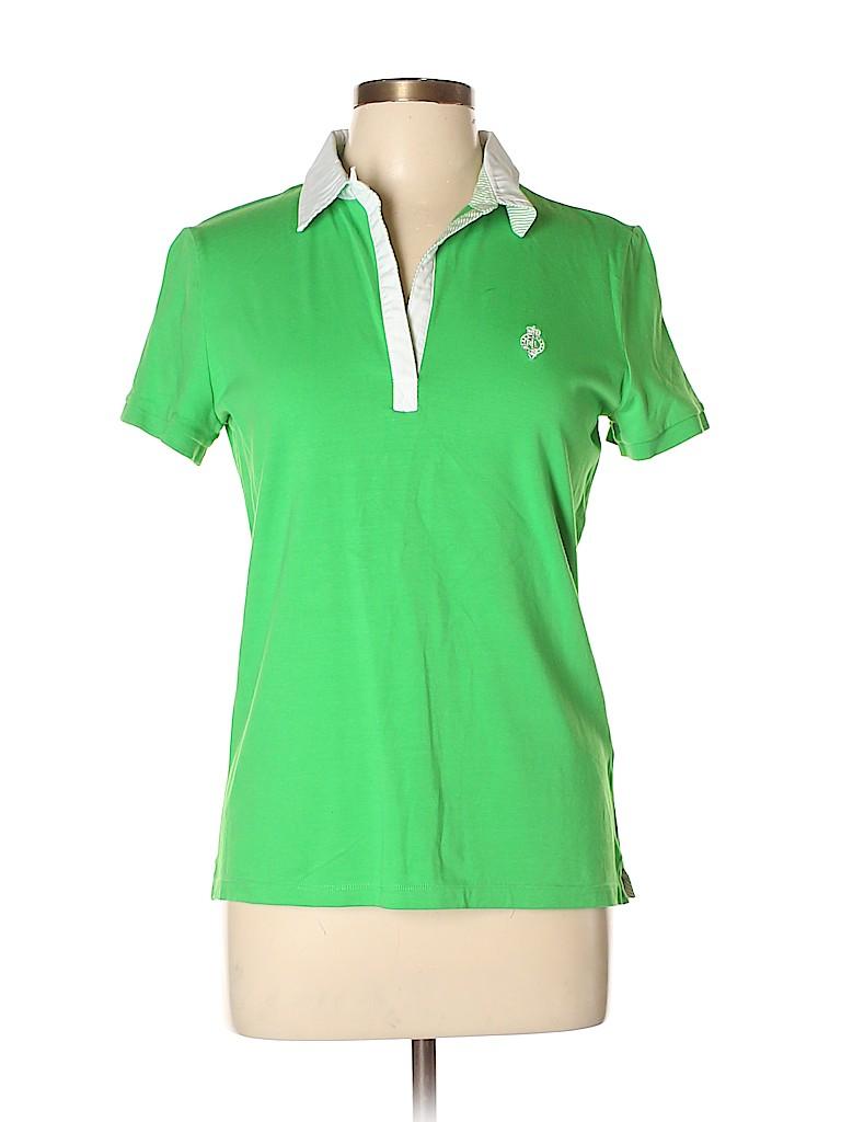 L-RL Lauren Active Ralph Lauren Women Short Sleeve Polo Size L