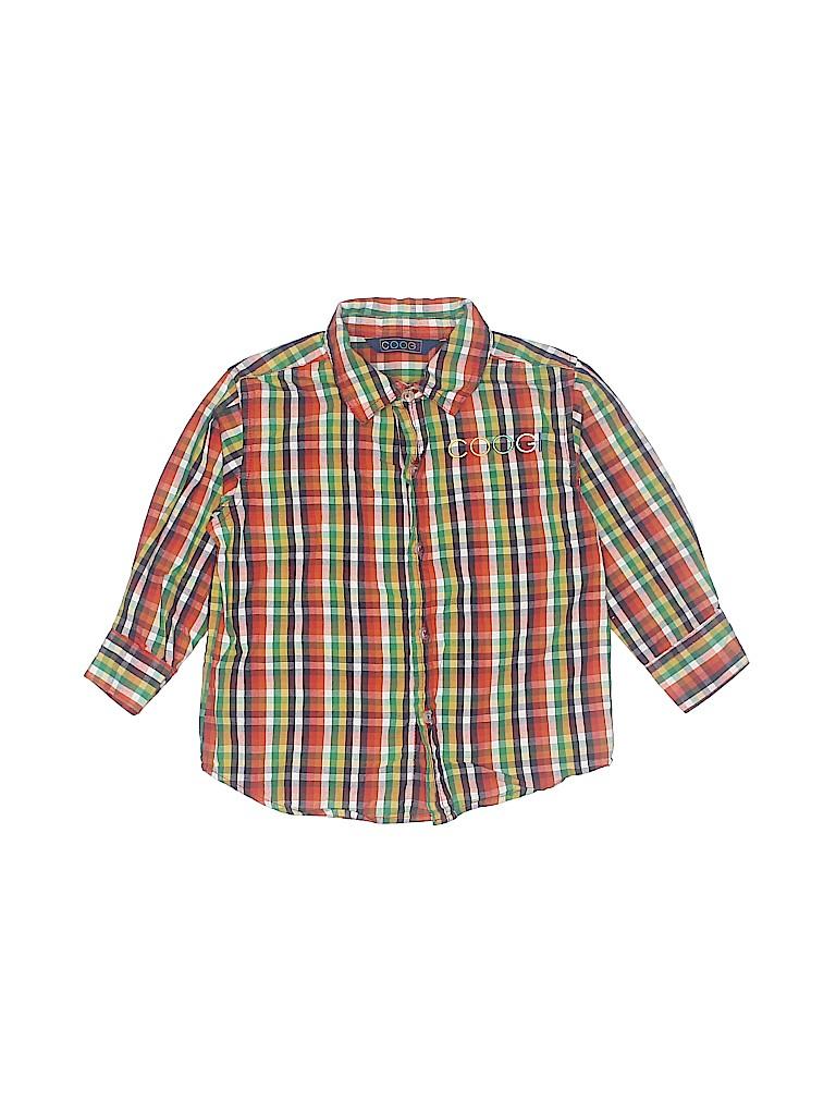 Coogi Boys Long Sleeve Button-Down Shirt Size 24 mo