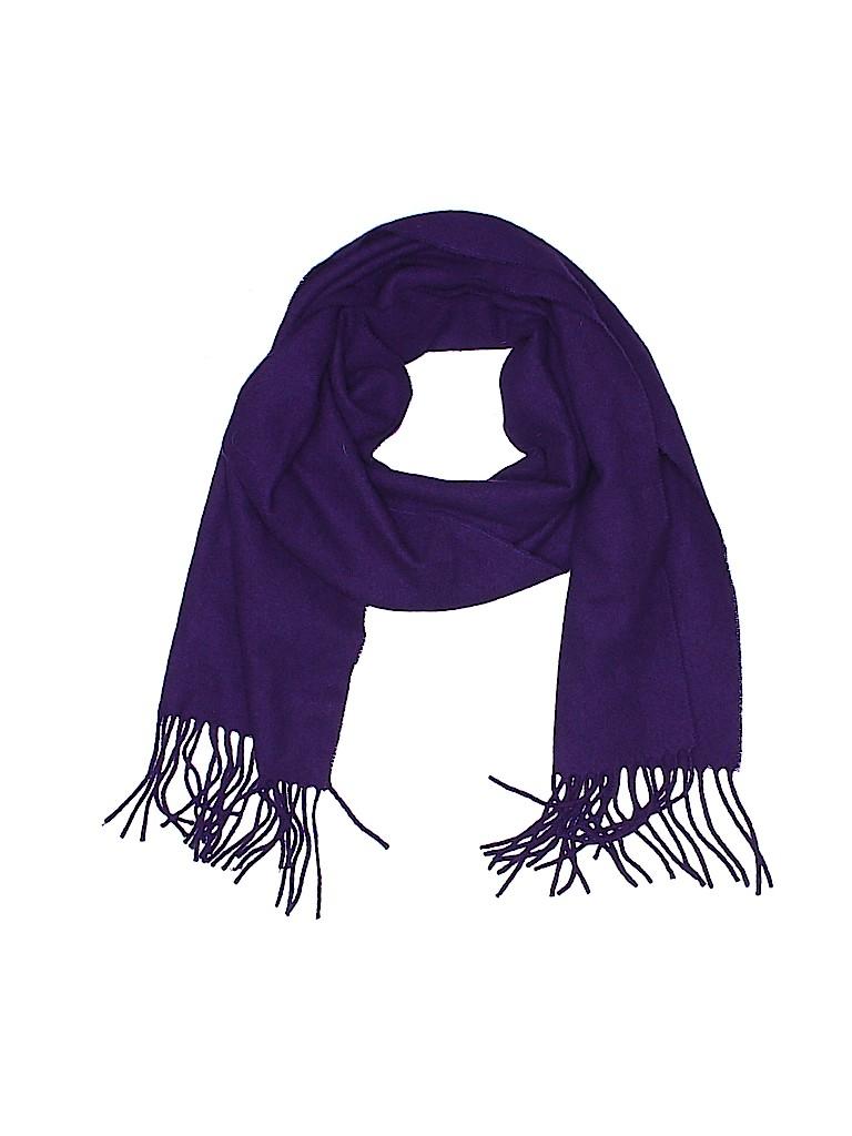 74ee1d9f2 Enzo Mantovani 100% Cashmere Solid Dark Purple Cashmere Scarf One ...
