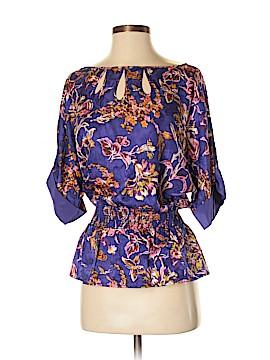 BCBGMAXAZRIA Short Sleeve Silk Top Size XS