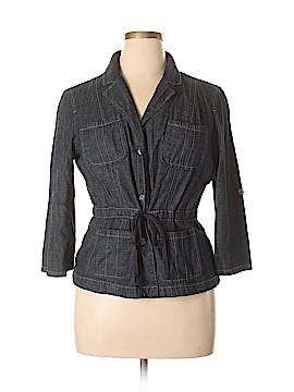 French Cuff Denim Jacket Size XL
