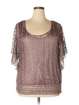 Lavish Short Sleeve Blouse Size 3X (Plus)