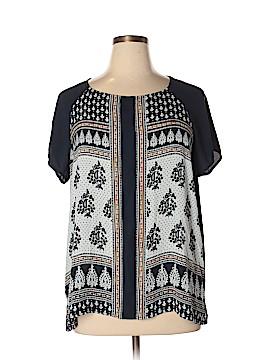 Ann Taylor LOFT Short Sleeve Blouse Size XL
