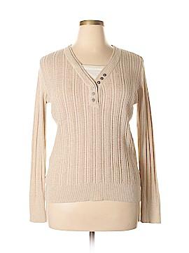 SONOMA life + style Long Sleeve Henley Size XL