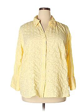 JM Collection Long Sleeve Button-Down Shirt Size 22 (Plus)