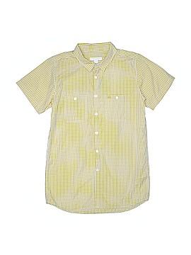 Burberry Short Sleeve Button-Down Shirt Size 14