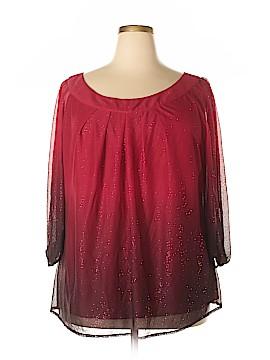 Sara Michelle 3/4 Sleeve Blouse Size 3X (Plus)