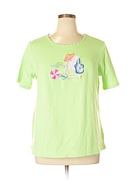 Quacker Factory Short Sleeve Top Size L