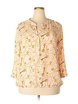 New York & Company 3/4 Sleeve Blouse Size XXL