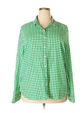 Crown & Ivy Long Sleeve Button-Down Shirt Size 3X (Plus)