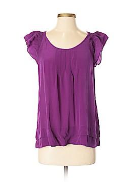 Petticoat Alley Short Sleeve Silk Top Size S