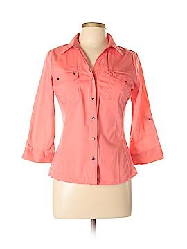 Zac & Rachel 3/4 Sleeve Button-Down Shirt Size L (Petite)
