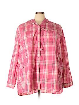 Roaman's Long Sleeve Button-Down Shirt Size 32W (Plus)
