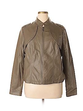 B by Bernardo Faux Leather Jacket Size 1X (Plus)