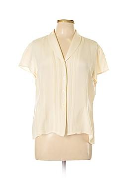 Jones New York Short Sleeve Silk Top Size 16