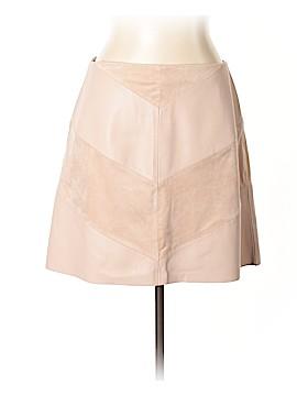Zara Basic Faux Leather Skirt Size L