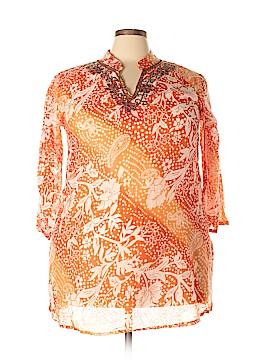 Jessica Taylor 3/4 Sleeve Blouse Size 3X (Plus)