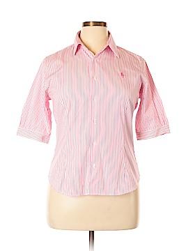 Ralph Lauren Sport 3/4 Sleeve Button-Down Shirt Size 14