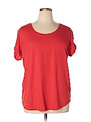 A.n.a. A New Approach Women Short Sleeve T-Shirt Size 1X (Plus)