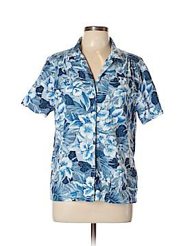 Cathy Daniels Short Sleeve Button-Down Shirt Size L
