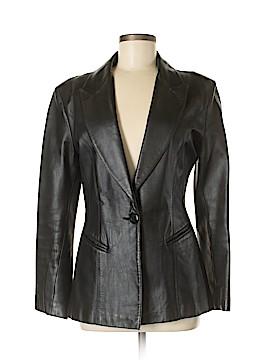 Michael Hoban Leather Jacket Size 6