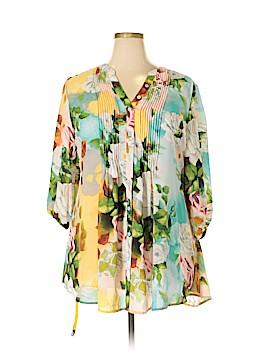 Melissa McCarthy Seven7 3/4 Sleeve Blouse Size 1X (Plus)