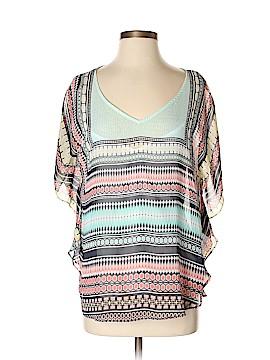 B-Design Short Sleeve Blouse Size S
