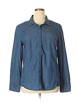 Caslon Long Sleeve Button-Down Shirt Size XL