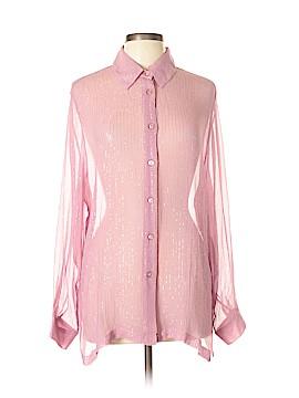 Draper's & Damon's Long Sleeve Silk Top Size L
