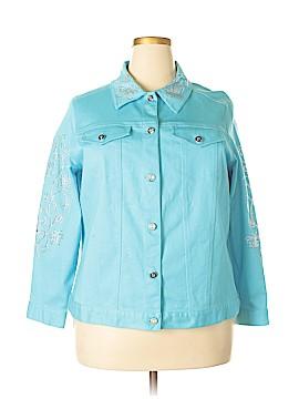 Quacker Factory Denim Jacket Size 1X (Plus)