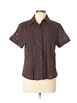 TanJay Short Sleeve Button-Down Shirt Size 12 (Petite)
