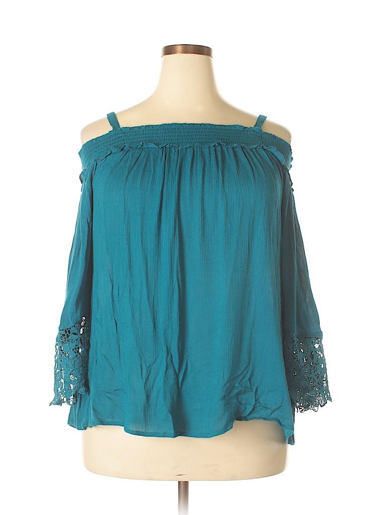 INC International Concepts Women 3/4 Sleeve Blouse Size 2X (Plus)