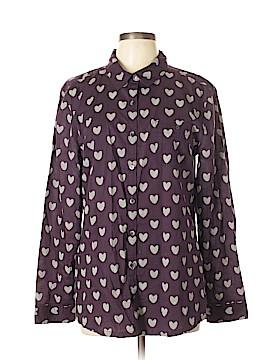 Caslon Long Sleeve Button-Down Shirt Size L