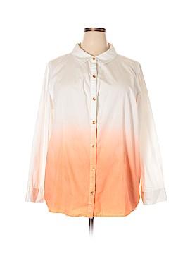 Isaac Mizrahi Long Sleeve Button-Down Shirt Size 2X (Plus)