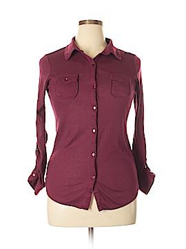 Passport Long Sleeve Button-Down Shirt Size XL